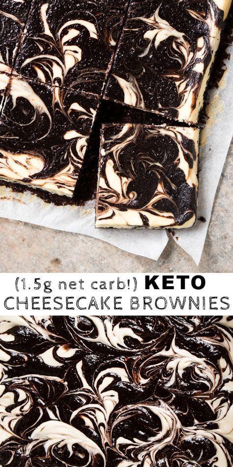 (1.5g net carb!) Gluten Free & Keto Cheesecake Brownies
