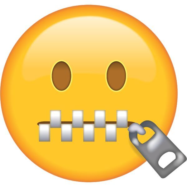 Zipper-Mouth Face Emoji in png. When somebody tells you to