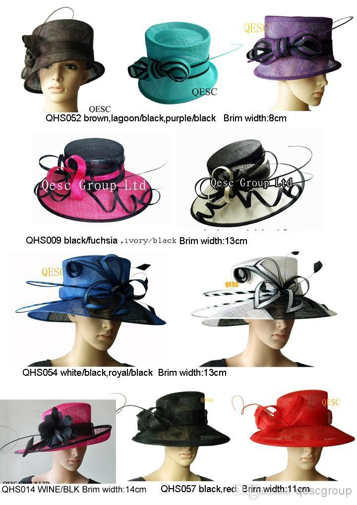 d225fa30517 NEW fashion sinamay hat sell in different style and colors