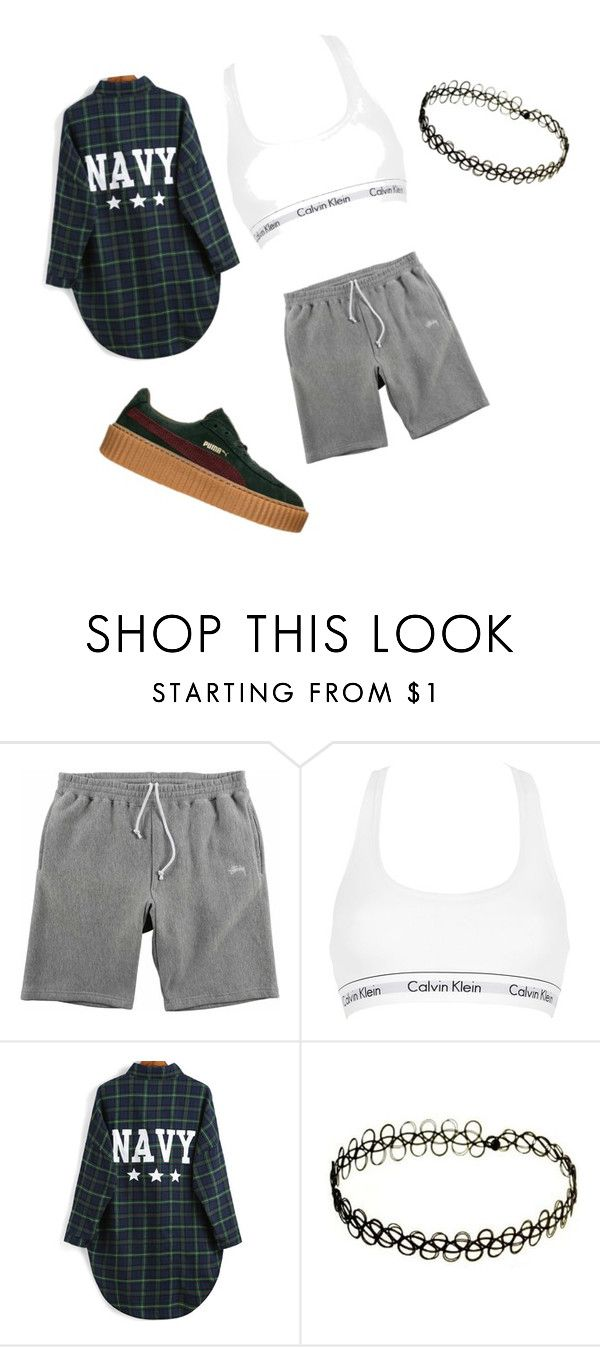 """Untitled #24"" by ash1243 ❤ liked on Polyvore featuring Stussy, Calvin Klein Underwear and Puma"