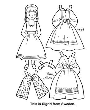 Children Of The World Paper Dolls Free Boyama Sayfalari