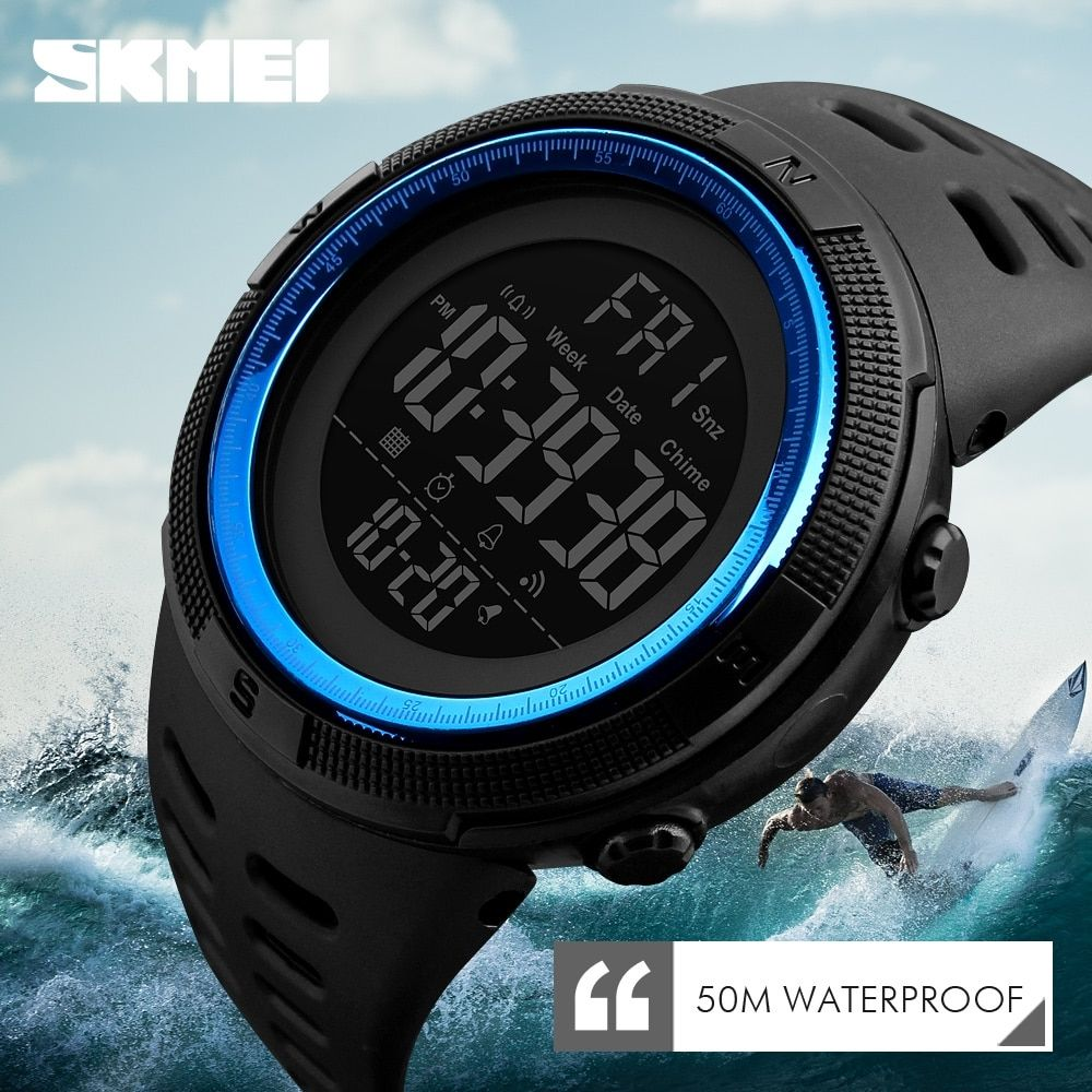 Skmei Waterproof Mens Watches New Fashion Casual Led Digital Outdoor Sports Watch Men Multifuncti In 2020 Mens Sport Watches Digital Sports Watches Military Watches