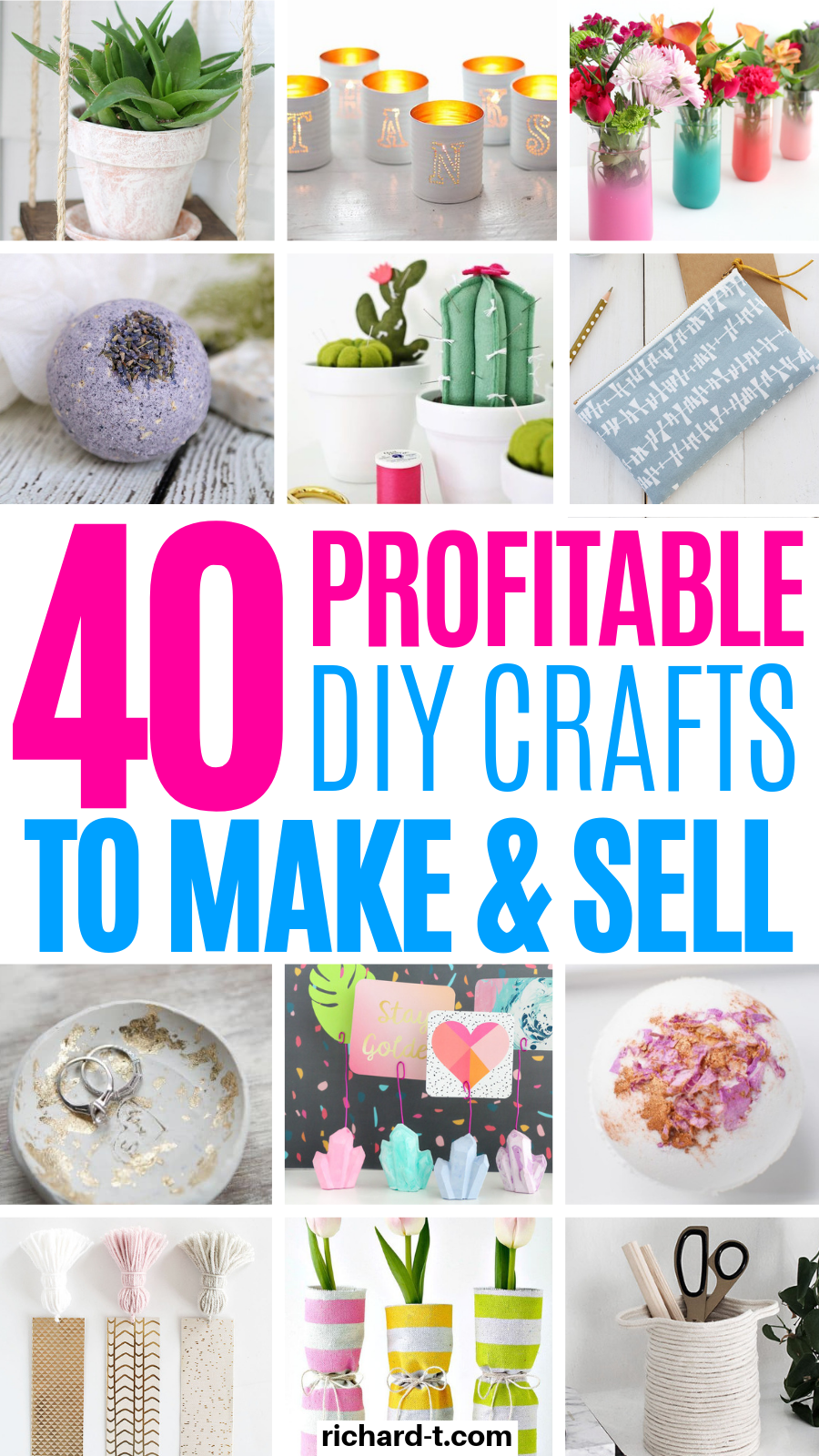 40 DIY Crafts To Make & Sell For Money