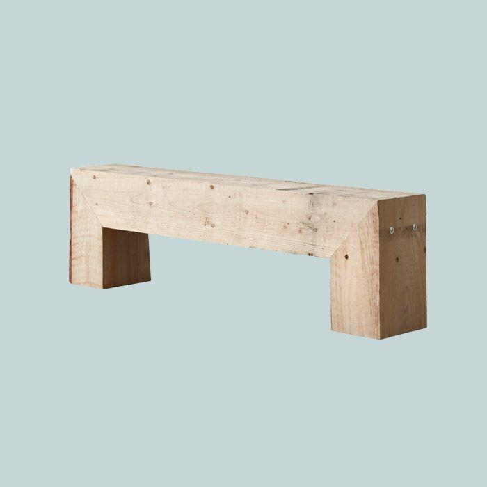vægterdesigndk 8×10 tømmerbænk Einrichtung aus Holz - tolle - badezimmer accessoires holz