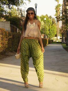 BritBrat modeling Harem pants for me! Street Style. #Africanfashion #AfricanClothing #Africanprints #Ethnicprints #Africangirls #africanTradition #BeautifulAfricanGirls #AfricanStyle #AfricanBeads #Gele #Kente #Ankara #Nigerianfashion #Ghanaianfashion #Kenyanfashion #Burundifashion #senegalesefashion #Swahilifashion DK