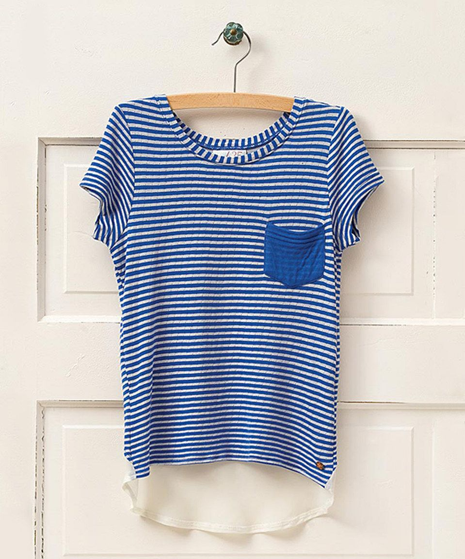 This Matilda Jane Clothing Blue On Our Way Tee - Girls by Matilda Jane Clothing is perfect! #zulilyfinds