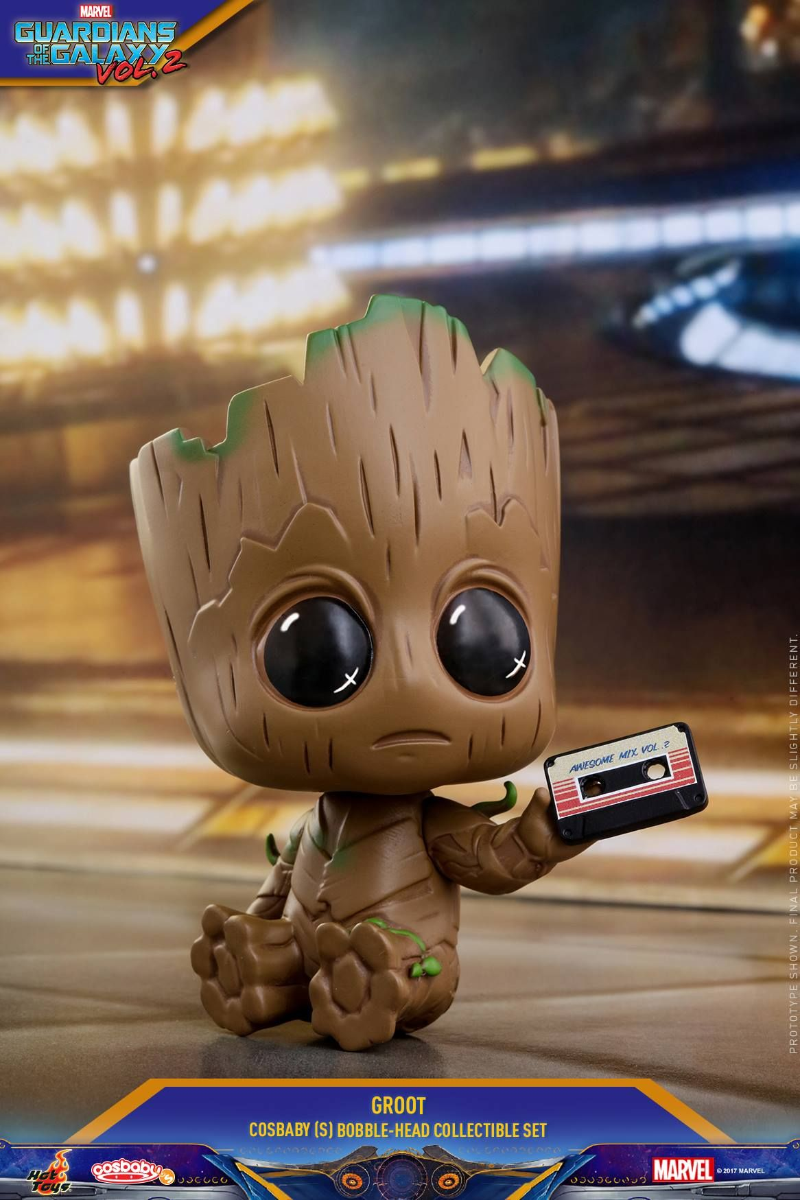 Hot Toys Cosbaby Groot givré version