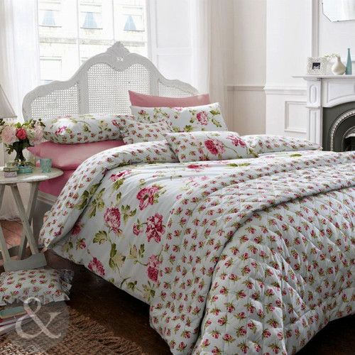 shabby chic 100 cotton duvet cover duck egg blue pink vintage floral bedding ebay