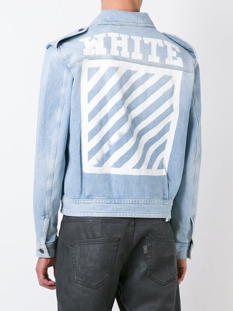 819716d52cc1 Blue cotton military denim jacket from Off-White