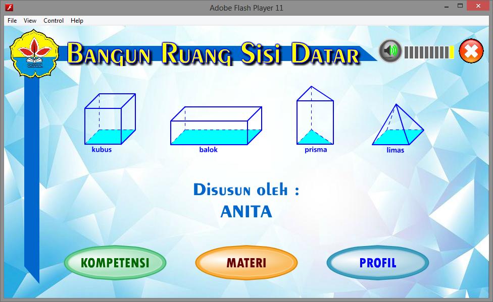 Media Pembelajaran Interaktif Matematika Bangun Ruang Sisi Datar Game Edukasi Multimedia Belajar
