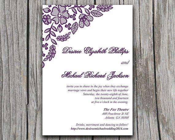 ms word wedding invitation template