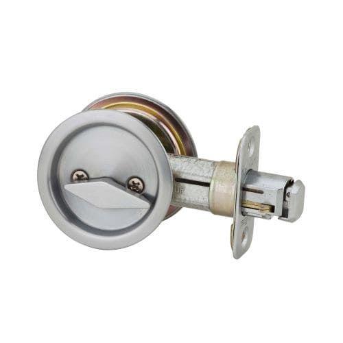 Kwikset 335 Round Privacy Bed/Bath Pocket Door Lock (Antique Brass)