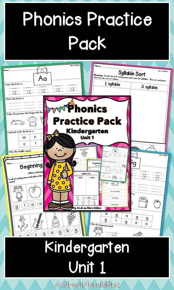 Kindergarten Phonics Unit 1 (With images) | Phonics kindergarten. Phonics practice. Phonics