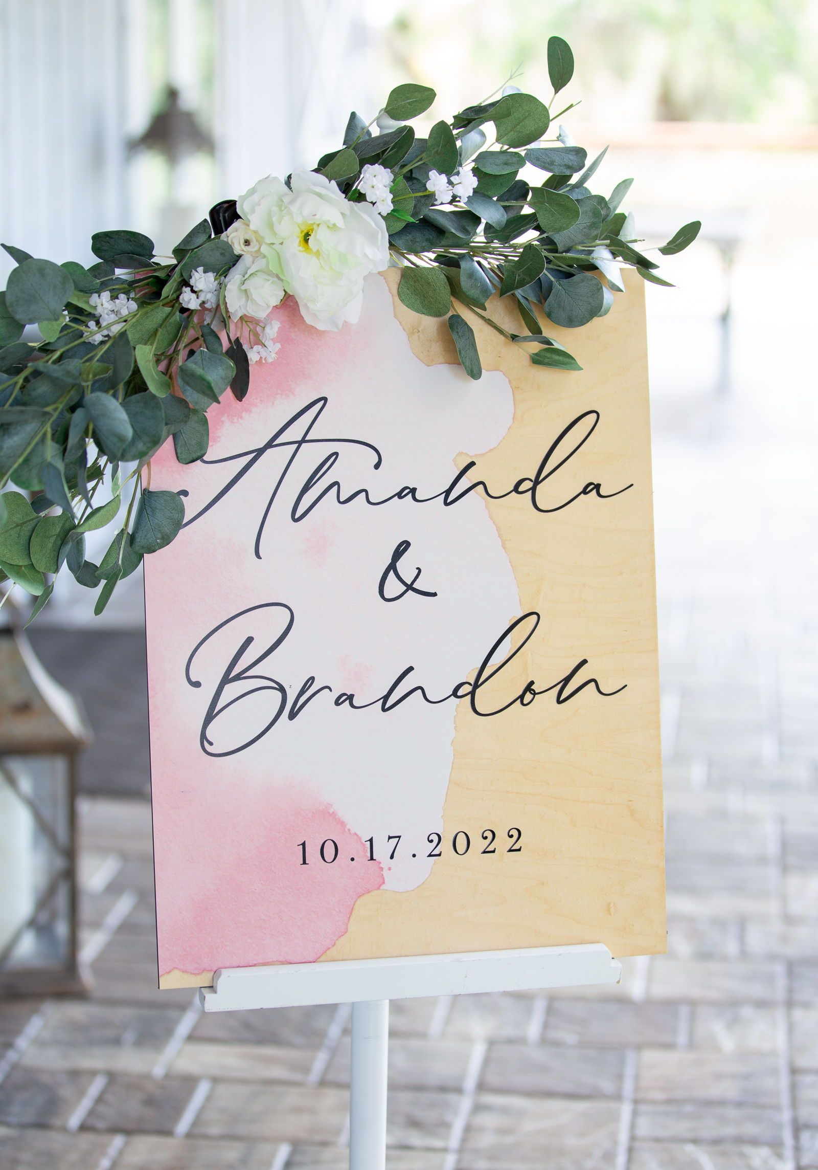 Wedding Welcome Sign Painted Style With Names Acrylic Or Wood Etsy Wedding Welcome Signs Watercolor Wedding Sign Wedding Signs