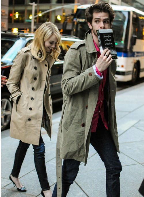 trench coat love. i think i am too short for them though. sigh. + they are such a cute couple