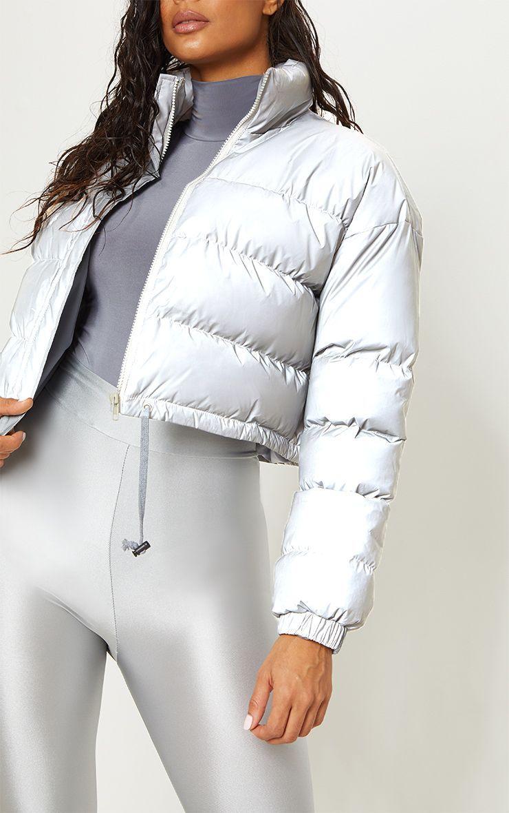 Grey Reflective Puffer Jacket Jackets Puffer Jackets Winter Puffer Jackets [ 1180 x 740 Pixel ]