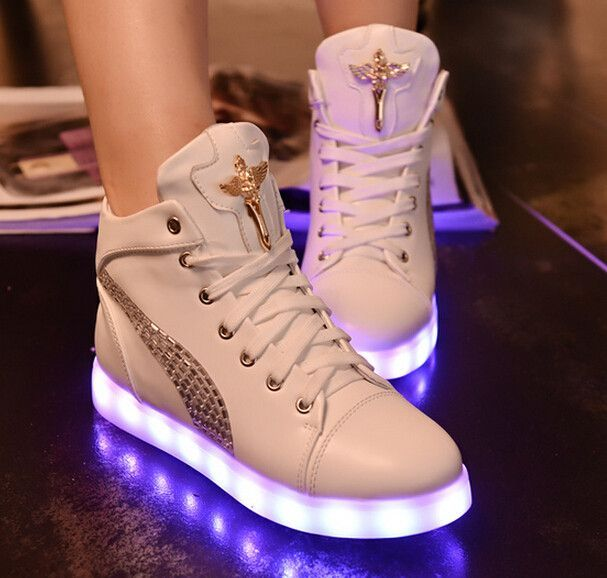 Fashion colorful LED rechargeable luminous sneaker SE4927 - clothing sponsorship