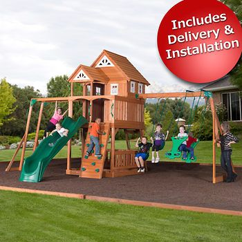 Adventure Playsets Mountaineer Swing Set With Bonus 2 Person