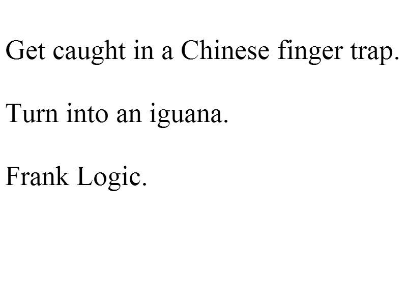 well done, Frank Zhang. That is exactly how people beat Chinese Handcuffs. They turn into iguanas.