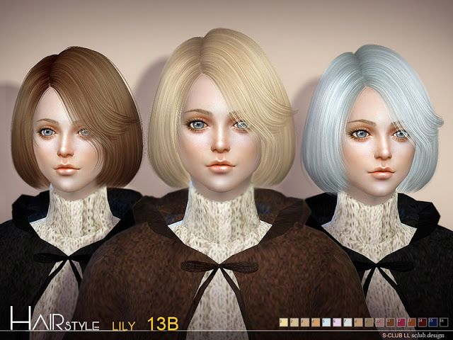 Sims 4 CC's - The Best: Hair Lily by S-Club