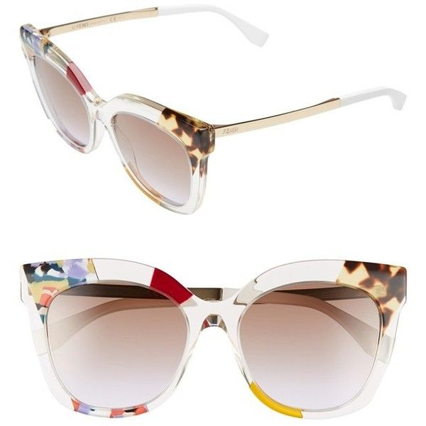 1441b081e77d Fendi 53mm Retro Sunglasses ( 480) ❤ liked on Polyvore featuring  accessories