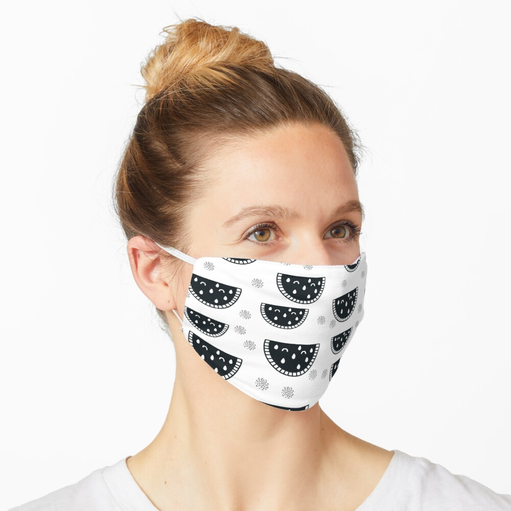 'watermelon' Mask by haroulita in 2020 Cute black cats