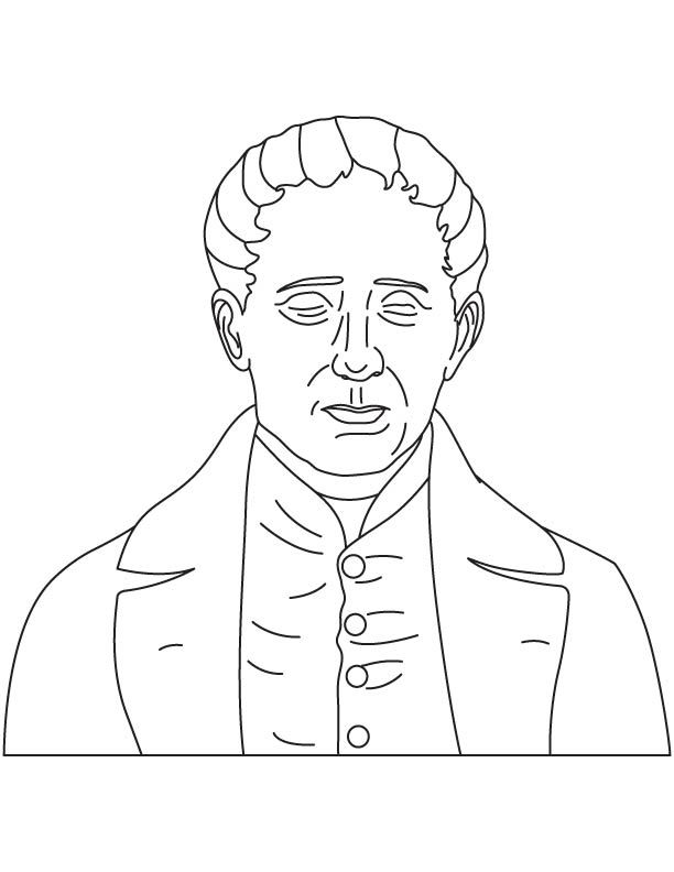 Louis Braille coloring pages | History coloring sheets | Pinterest ...