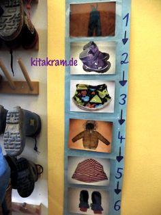 Tipp Fur Die Kindergarderobe Kitakram De Kindergartenbeginn Kita Raumgestaltung Kita