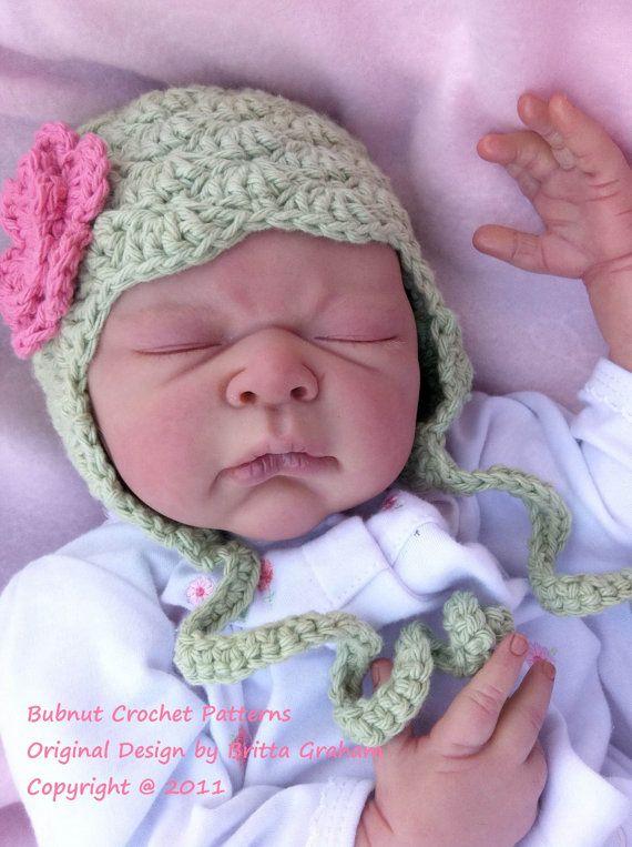 Crochet Pattern - Shell Stitch Baby Hat Pattern with Earflaps No.605 ...