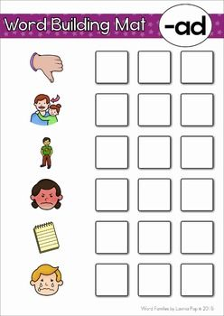 word families ad classroom management word families words word