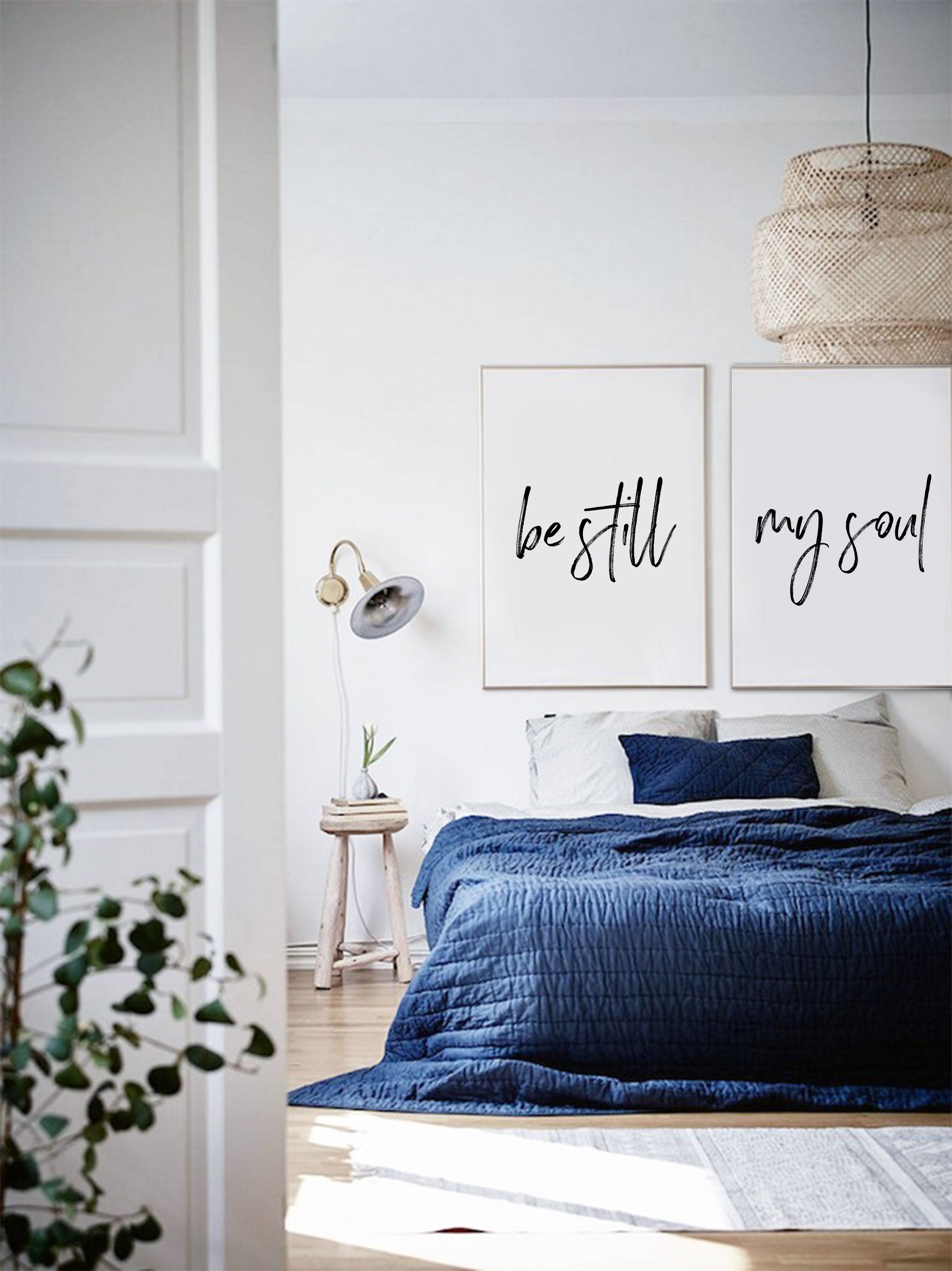 Be still my soul art print posters quote prints bedroom above bed