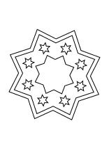 Einfaches Stern Mandala Weihnachten Advent Mandala Und Sky