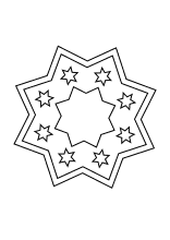 Einfaches Stern Mandala Weihnachtsmandala Ausmalbilder