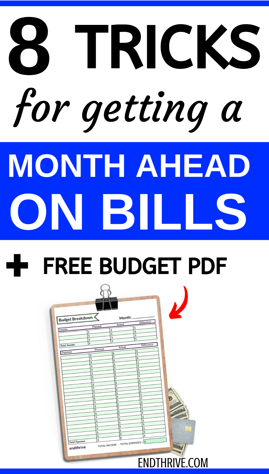 8 Simple Budgeting Tricks To Get You A Month Ahead On Your