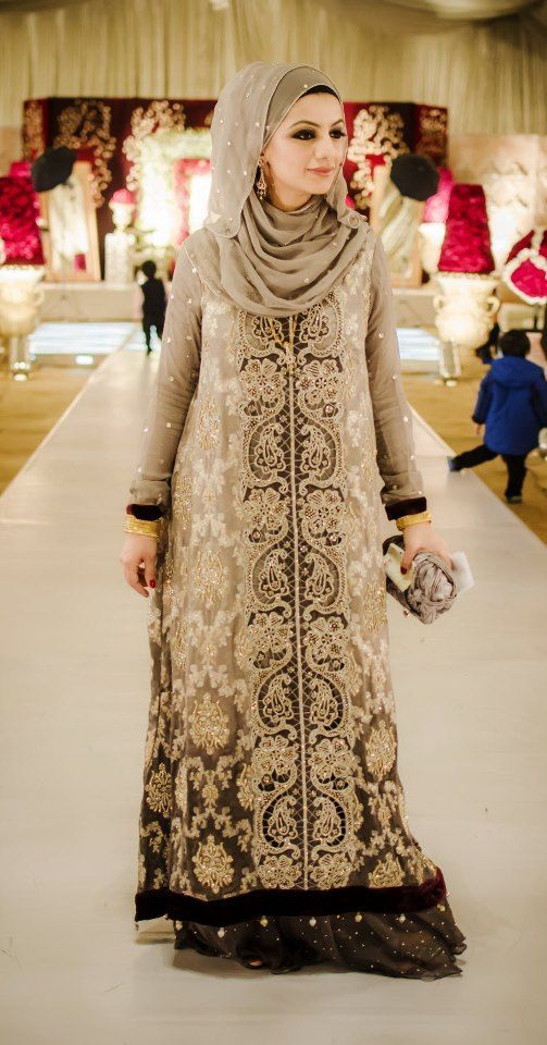 Latest Islamic Bridal Dresses With Hijab For Brides 2015