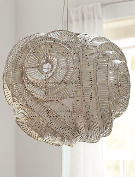 Unique spiral pendant lamp