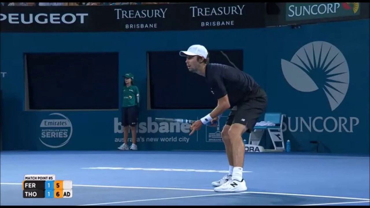 David Ferrer v Jordan Thompson Brisbane R2 2017 Jordan