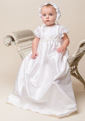 Boy Baptism Suits Applique Lace Charmeuse Silk Christening Gowns Custom Made
