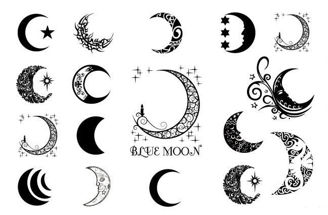 Wholesale Tattoo Stars Of Libra Vines And Crescent Moon