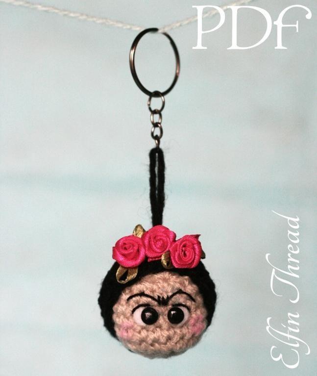 Frida Kahlo Crochet Keyring (Keychain) by Lorena da Silva - Craftsy ...
