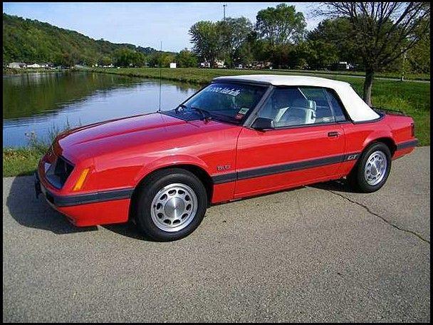 1986 Ford Mustang Gt Convertible Mustang Mustang Convertible Ford Mustang