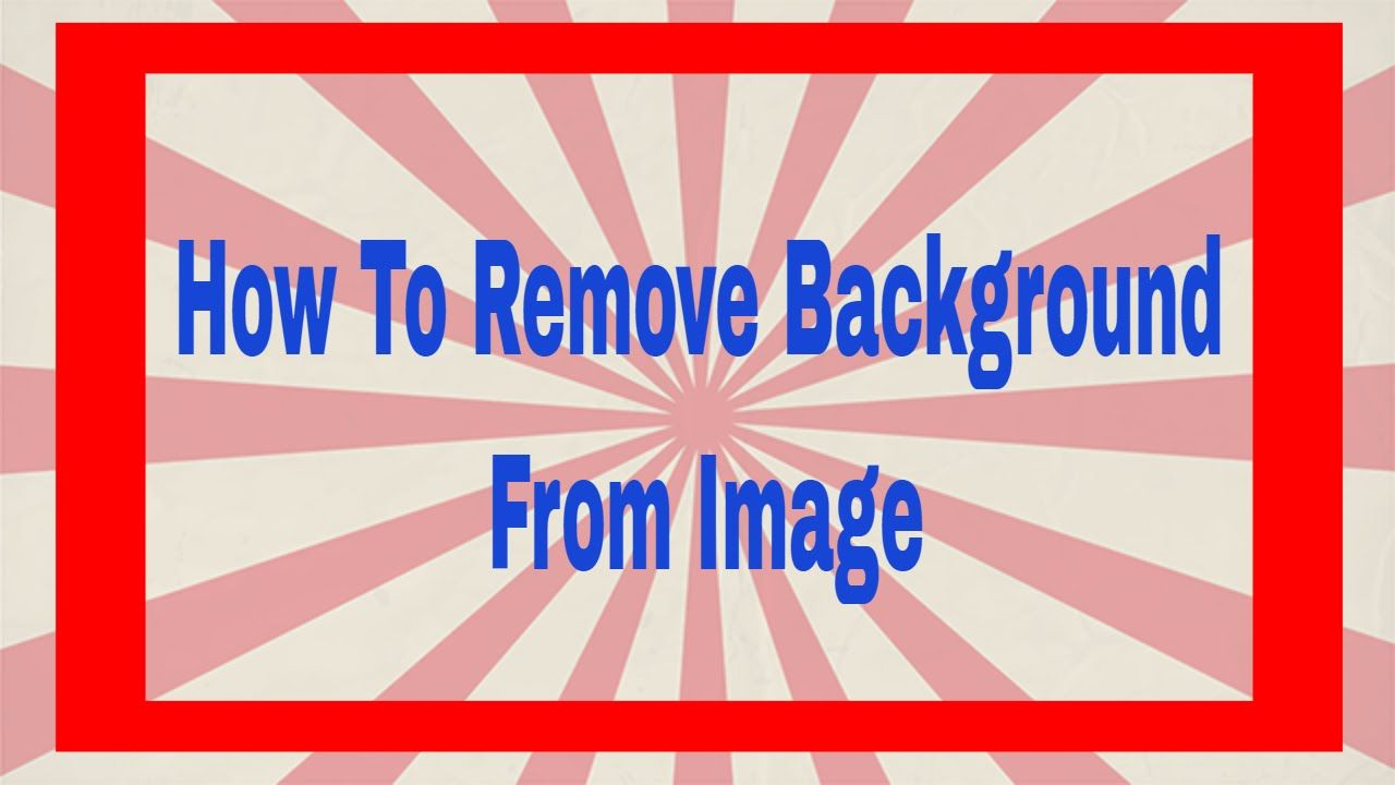 "How To Remove Image Background By Just Using ""Paint"