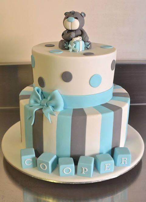 baby shower cake  Backen  Taufe kuchen Junge Kuchen und Baby kuchen