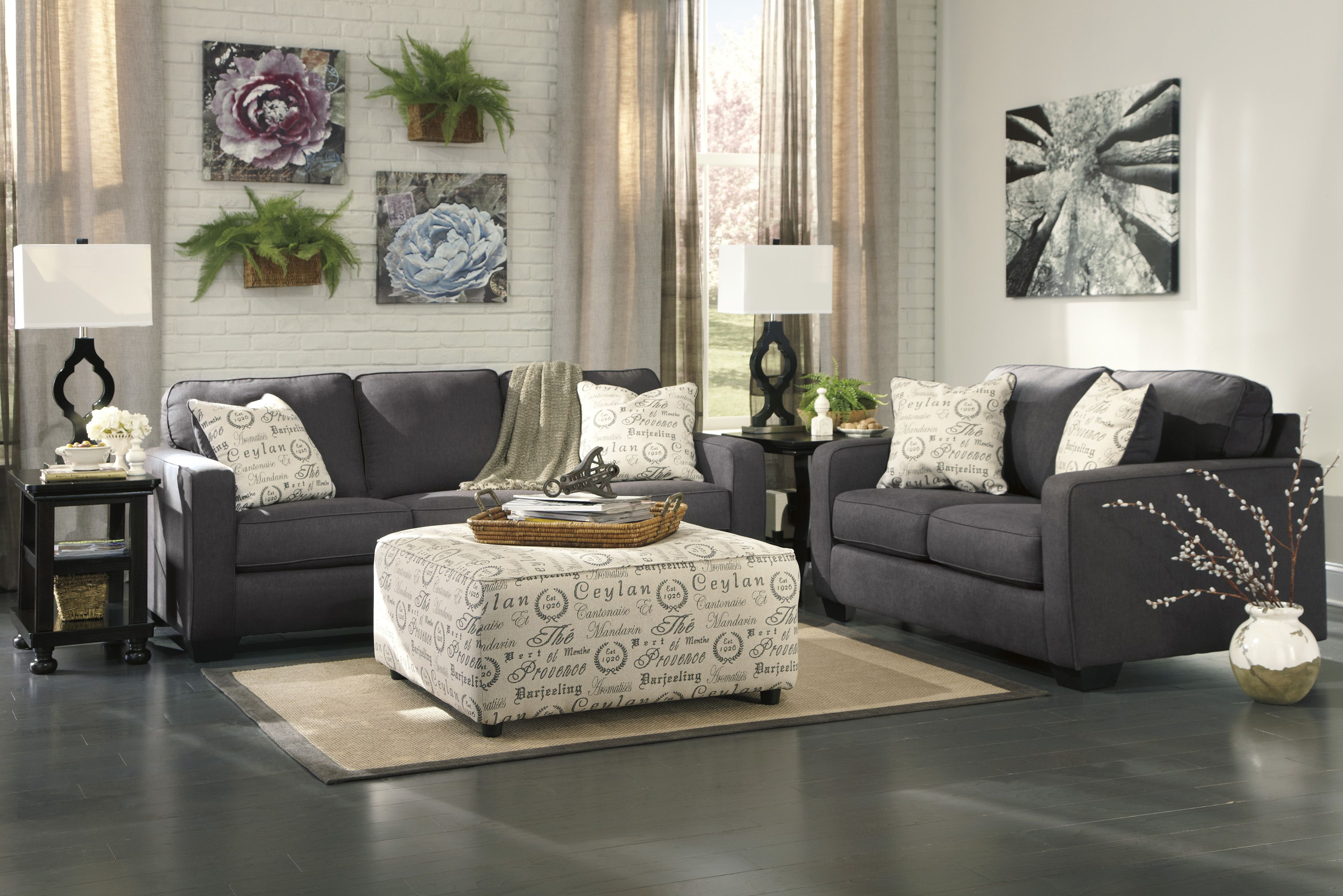 Alenya Charcoal Showood Sofa Collection Living Room Sets Furniture Homestore Colourful Living Room