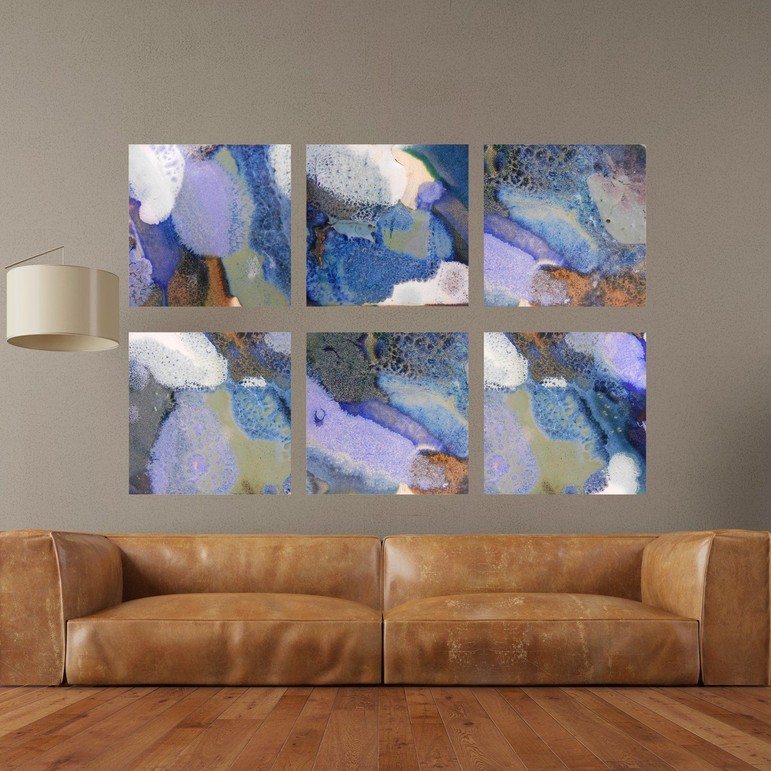 Set Of 6 Bold Colorful Abstract Square Canvas Prints 41 44 Maggie Minor Designs Large Canvas Art Living Room Large Canvas Art Colorful Paintings