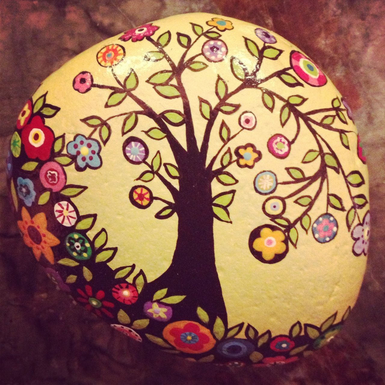 Best 25 hand painted rocks ideas on pinterest stone - Painting rocks for garden what kind of paint ...