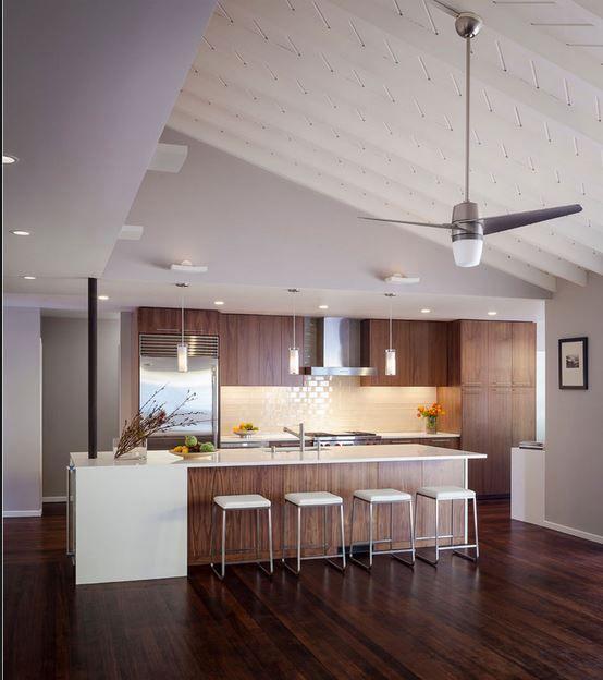 Ventiladores de techo por tipos de ubicación: cocina