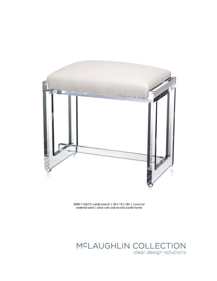 Merveilleux McLaughlin Collection Acrylic \ Lucite Furniture
