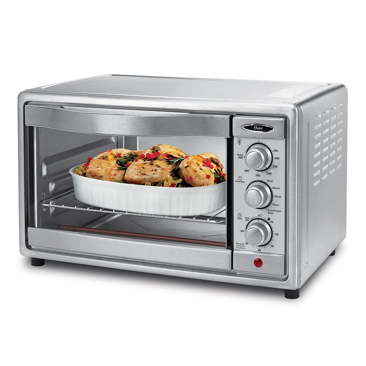 Oster 6 Slice Convection Toaster Oven Brushed Stainless Steel At