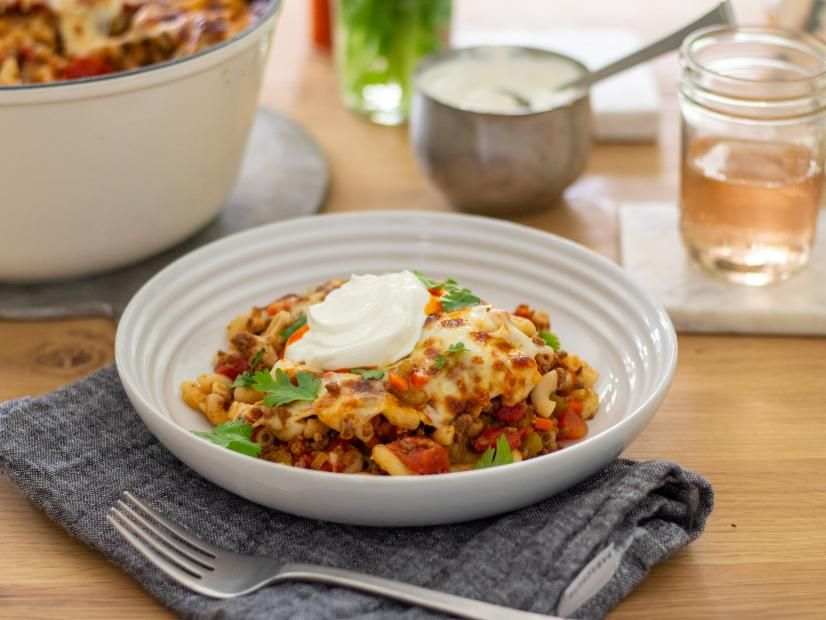 Kitchen Sink Chili Mac Recipe Chili Mac Food Network Recipes